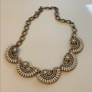 J.Crew white/cream and gold statement necklace